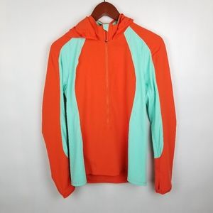 Merrell Selectwick Pullover Hoodie Orange Green M